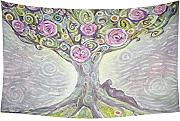 daawqee Spring Painting Wall Art Tree of Life