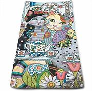DAICHAI Creative Cute Cats Kitchen Towels - Dish