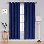 Deconovo Velvet Curtains for Bedroom Tende, Blu