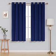 Deconovo Velvet Curtains for livingroom Tende, Blu