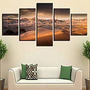 Decor For Living Room Picture HD Printing 5 Pezzi