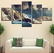 Decor For Living Room Wall Canvas Painting 5 Pezzi