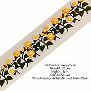 Decorazioni fai da te, 3D Border - Sunflower Burs
