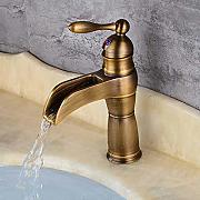 Decorry Watefall Basin Faucet In Ottone Massiccio