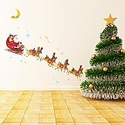 Decowall DCH-003 Natale Flying Santa Claus e