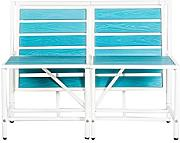 Design Twist Magicbench Set da Esterno, Metallo, Blu