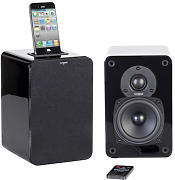 Produktbild: Diffusore bluetooth EVO E4i - / Set 2 casse Bluetooth dock iPod/iPhone di Tangent - Nero - Legno