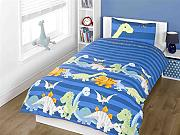 Dinosaur Blue Junior Toddler Cot Quilt Duvet Cover