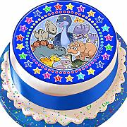 Dinosauro blu Star Border Birthday pretagliato