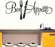 Diy Knife Fork Kitchen Wall Stickers Home
