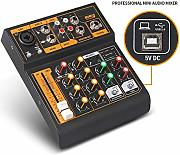 DJ Mixer Di piccola dimensione 48V Phantom Power