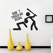 Do not Touch My Sticker Vespa Wall Sticker Vinyl