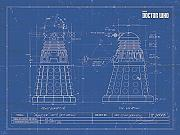 Doctor Who 60 x 80 cm Poster Dalek Tela Stampa