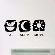 Eat Sleep Move Adesivo Rimovibile Palestra Fitness
