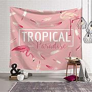 Eazyhurry Flamingo Tapestry Wall Hanging arazzi