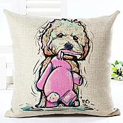 Eazyhurry Lovely Puppy Dog Modello Lino Decorativo