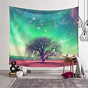 Eazyhurry Moon Sky Tapestry Wall Hanging arazzi