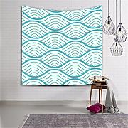 Eazyhurry Wave Tapestry Wall Hanging arazzi