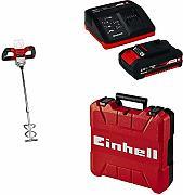 Einhell 4258760 TE-MX 18 Li Miscelatore a batteria per malta colorata colore Rosso//Nero