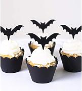 Eklead Halloween Bat Pattern Cupcake Toppers e