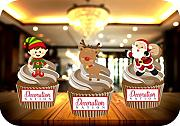 Elf, Rudolph, Babbo Natale trio mix stand up cake