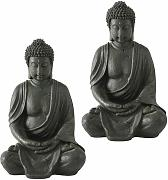 Etc-shop - Set di 2 figure di Buddha in resina