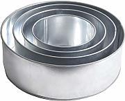 EURO TINS teglia per torta nuziale 5 strati Rotonda 20cm set da 5-15cm 23cm e 26cm 18cm
