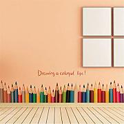 EWQHD Creative Matita Baseboard Wall Stickers For