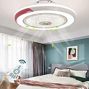 Fan LED Plafoniera Ventilatore A Soffitto Con