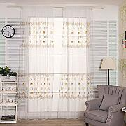 FDBF Coloured Circle Pattern Curtain Embroidered
