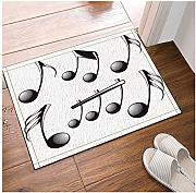 FEIYANG Musica Note Decorative Bagno Tappeto