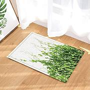 FEIYANG Spring Green Floral Leaves Decor Tappeti