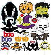 Fenical 24PCS Halloween photo booth bar party