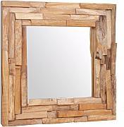Festnight Specchio con Cornice in Vimini Marrone,Specchio da Parete,Specchio da Muro,Specchio Verticale 40x60 cm//60x80 cm