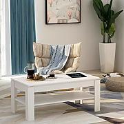Festnight Tavolino da Caff/è Tavolino Design Esclusivo 3 Ripiani Bianco
