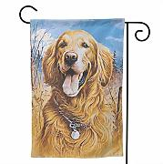 fingww Garden Flag Golden Retriever Dad FUUNY Art