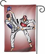 fingww Giardino Bandiera Taekwondo Ornament Picks