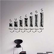 Finloveg Motivation Quote Success Wall Decal