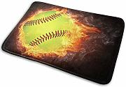 Fire for Softball Memory Foam Tappetino da bagno