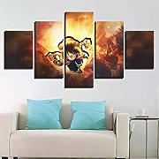FJLOVE One Piece Quadro su Tela Monkey D. Luffy 5