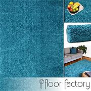 floor factory Tappeto Moderno Colors Blu Turchese