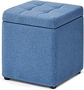 Footstool Storage Box Cube Pouffe Change Scarpiera
