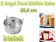 Forma Angel Food,Chiffon Cake in Alluminio