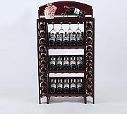 ZWJ Porta Bottiglie da Vino 5 Portabottiglie da Parete con