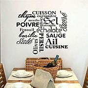 French Cuisson Texte Adesivo Murale In Vinile