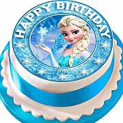 Frozen Elsa Happy Birthday Star Border pretagliato