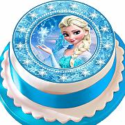 Frozen Elsa Star Border Birthday pretagliato
