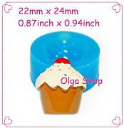 G235 Stampo Fimo Stampo silicone Cupcake (22 x