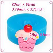 G289 Stampo Fimo Stampo silicone Cupcake (20 x