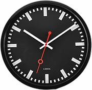 GAOHL Metallo Quartz Wall Clock salotto Home tranquilla camera da letto semplice moda accessorio 12 pollici , black
